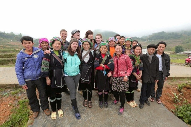 CBT Vietnam group with Hmong people